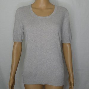 Gran Sasso Wool Cashmere Short Sleeve Sweater Grey